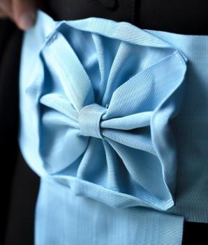 Ceinture moirée bleue