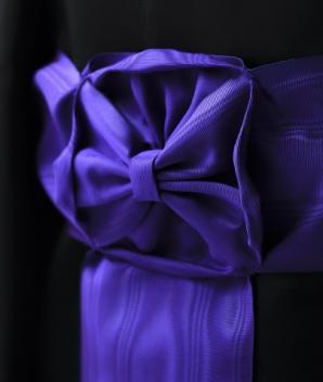 Ceinture moirée violette