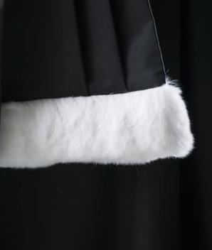 Épitoge noire 1 rang lapin rasé - Promo